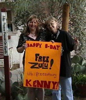 Zulu supporters celebrating his birthday, Las Vegas, 2010